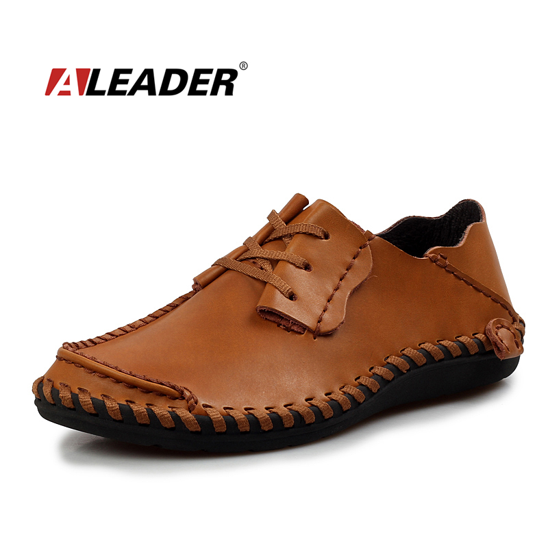 Men Leather Shoes Casual 2016 Autumn Fashion Shoes Men Designer Shoes Casual Breathable Big Size Mens Shoes Comfort Loafers