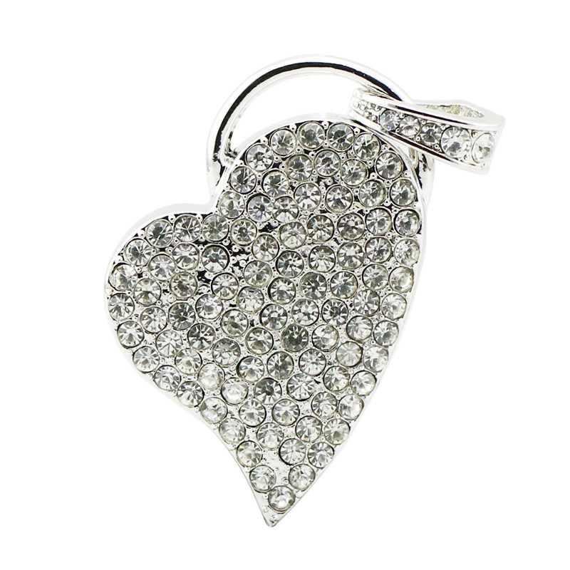 Heart USB Flash Memory Stick USB 2.0 Flash Pen Drive Business Gift Crystal Necklace USB Flash Drive 32GB 16GB 8GB 4GB(China (Mainland))