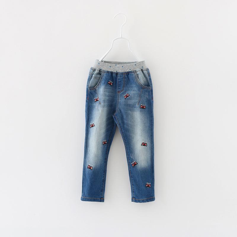 Unisex Casual Denim Pants Boys Girls Autumn Fashion New Elastic Waist Style Kids Cotton Full Length Children Clothing 6pcs/ LOT<br><br>Aliexpress
