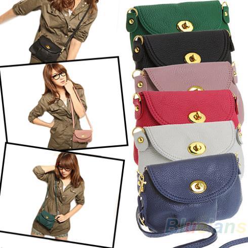Low Price High Quality Colorful Women Cute Crossbody Shoulder Messenger Bag Purse Handbag 1HCH(China (Mainland))