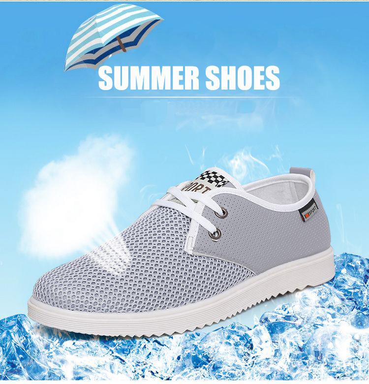 Мужские Летние Туфли Дышащие Мужчин Сетки Повседневная Обувь 2016 Новая Мода Студент Обувь Удобные Квартиры