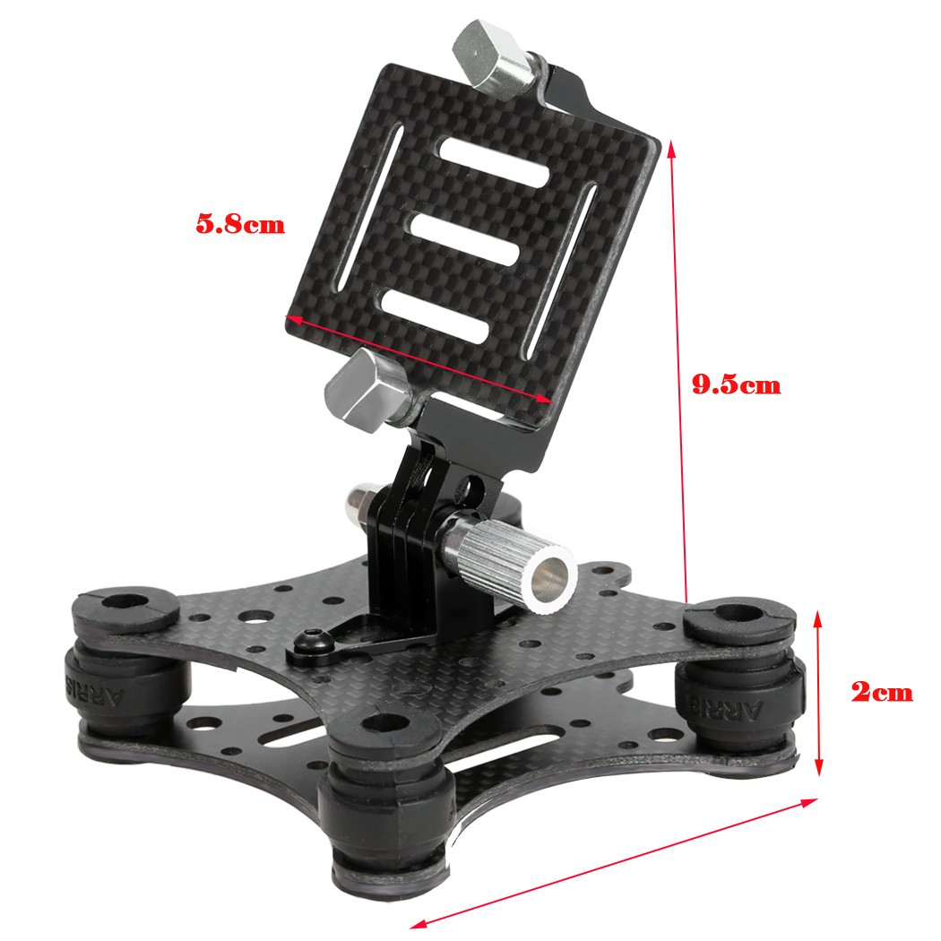 New Arrival Universal FPV 4-Axis Gimbal Part Carbon Fiber Shock Absorber Gimbal PTZ for DJI Phantom Gopro 3 FPV Quadcopter Drone