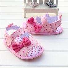 הכי חדש קיץ יפה פולקה נקודות Bow תינוק בנות נעלי סנדלי פעוט תינוק ילדים Prewalker סנדלי sandalia infantil 0-18 M(China)