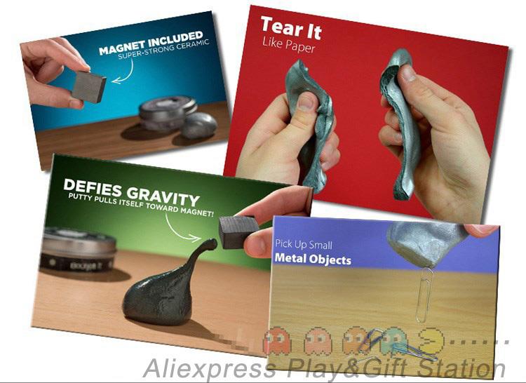 Гаджет  Super Cool ZOYO Magnetic Thinking Putty Silly Putty Handgum Magnet Magnetic Plasticine Creative Jokes Toys None Игрушки и Хобби
