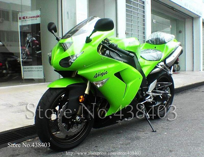 * ABS Motorcycle fairing Kawasaki Ninja ZX10R 2006 2007 green ZX-10R Plastic ZX 10R Bodywork Set - yuxia song's store