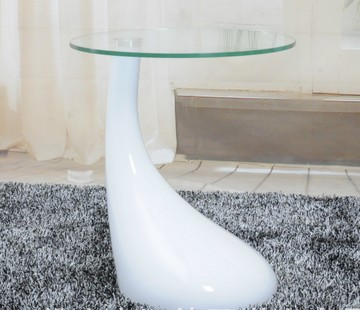 Meubles de salon moderne table basse verre top abs base - Petite table basse verre ...