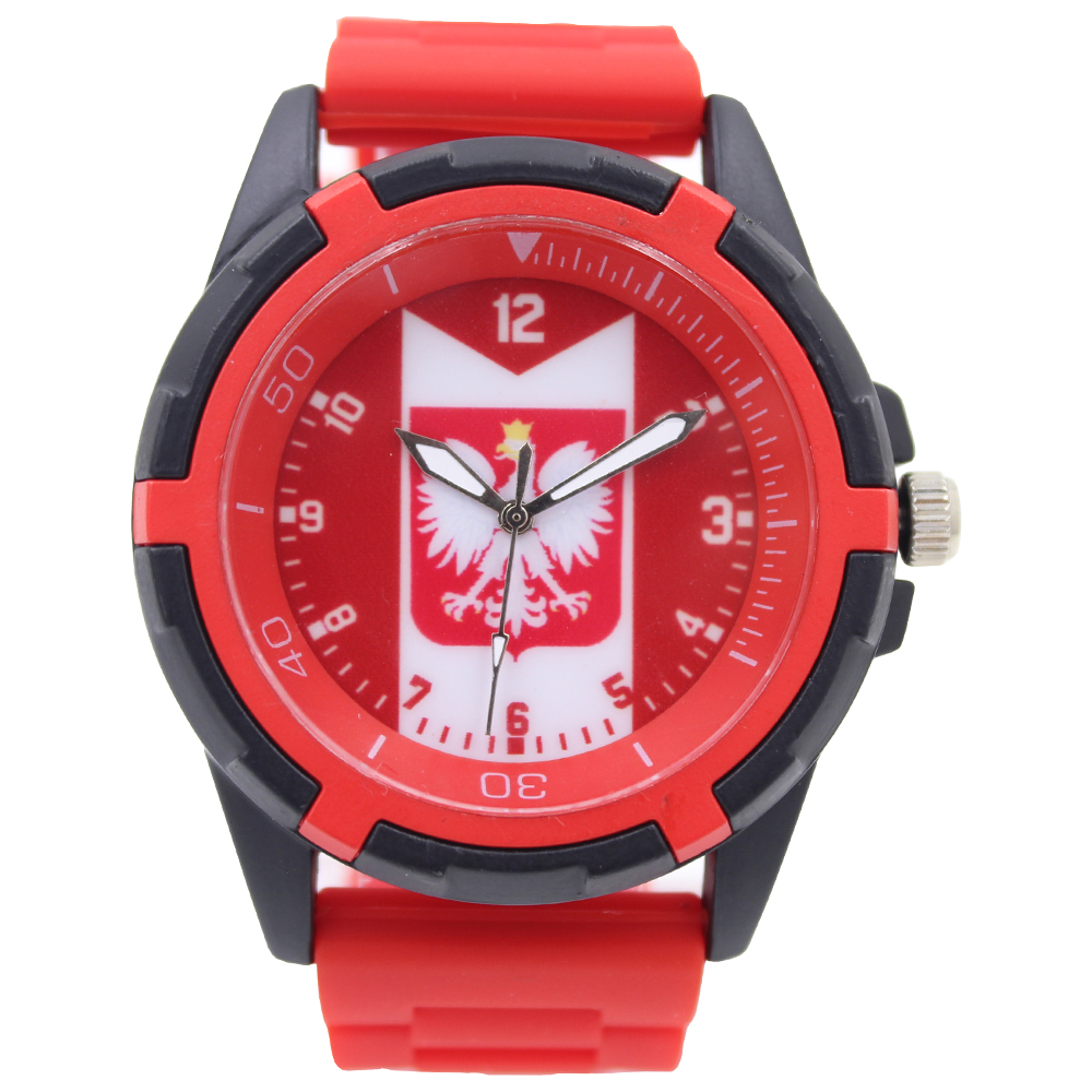 Wholesale 3 Colors For Poland National Soccer Team Fan Souvenirs Products Male Quartz Fashion Sports Watches(China (Mainland))