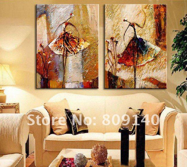 Painting dancer ballet dancing abstract oil painting on canvas free shipping high quality hand - Home decor promo code paint ...