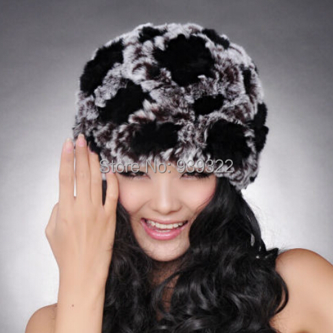 2015 New Rex Rabbit Fur Hat Genuine Rex Rabbit Cap High Quality Headgear Fashion Wonen(China (Mainland))