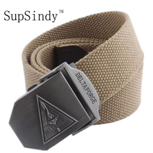 Buy SupSindy 2017 new arrival men's canvas belt DELTA FORCE buckle military belt Army tactical belts Male top men strap for $6.92 in AliExpress store