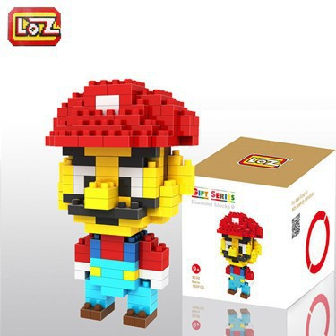 4 Pcs/Lot Original Gift Box LOZ Blocks Action Toy Building Kits Marvel Figures Model Assemblage Mario Toy 7.5cm(China (Mainland))