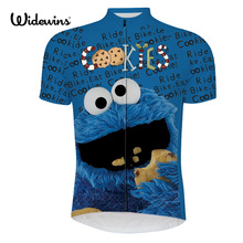 Buy men cycling jersey pro team blue maillot ciclismo ropa bici de la mtb bike jersey cycling clothing cartoon funny jersey 6516 for $16.61 in AliExpress store