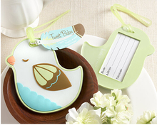 """Free shipping wedding favor baby shower party gift-""""Tweet Baby"""" Baby Bird Luggage Tag wedding Favor and giveaways 100pcs/lot(China (Mainland))"""