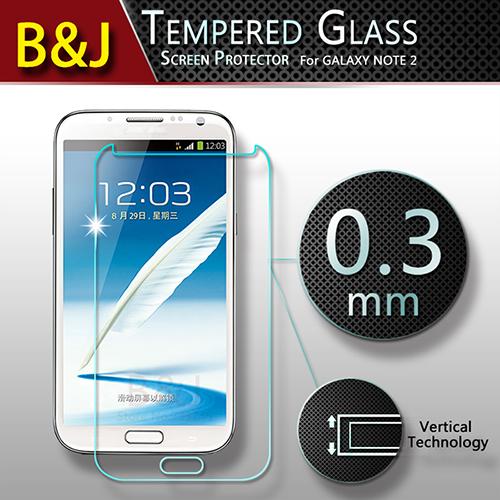 Anti-Explosion 0.3MM Protective Film Samsung Galaxy Note 2 II N7100 Original Premium Tempered Glass Screen Protector - Guangzhou B&J Trading Co., Ltd. store