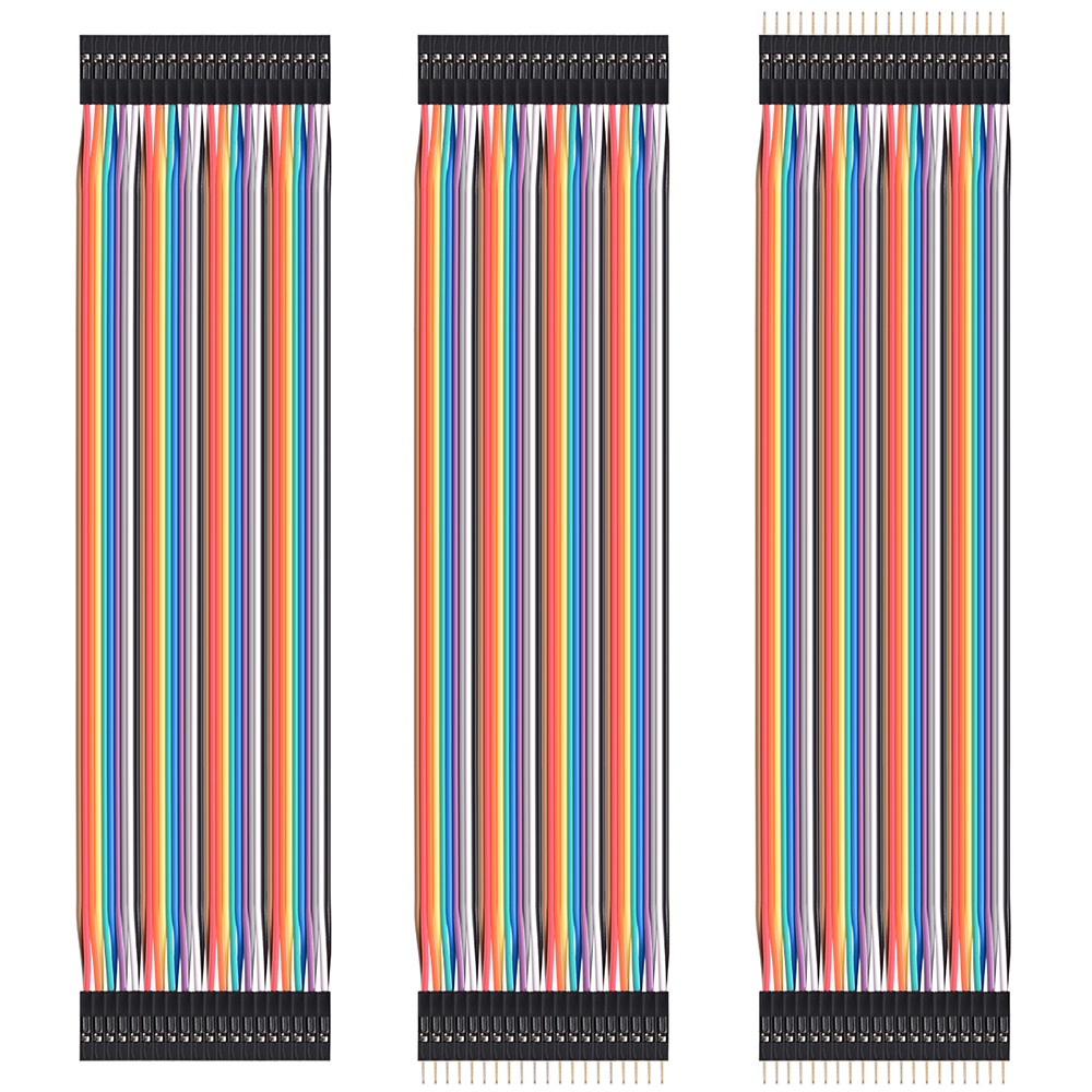 40Pcs Male Female Dupont Wire Cables Jumpers 20Cm 2.54Mm 1P-1P For Arduino TE461(China (Mainland))