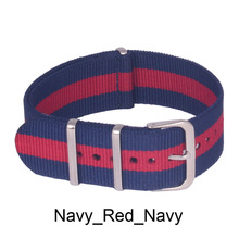 22mm New Navy Red High Quality Nato strap Nylon Strap Watch band Free Shipping wach band
