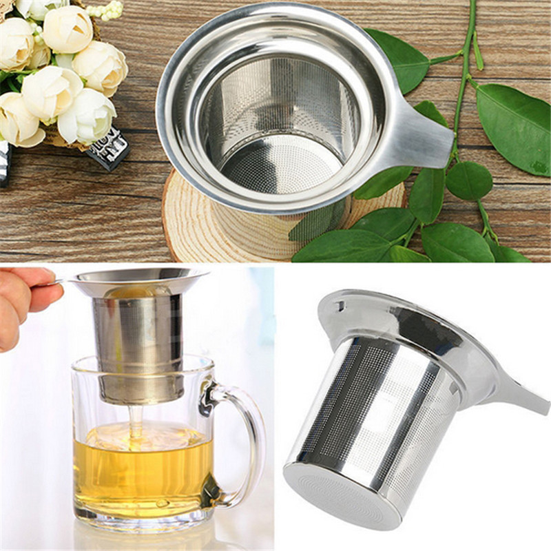 Stainless Steel Tea Strainer Filter Baskets Mesh Cup Reusable Strainer Herbal Locking Tea Filter Infuser Spice GI878036(China (Mainland))