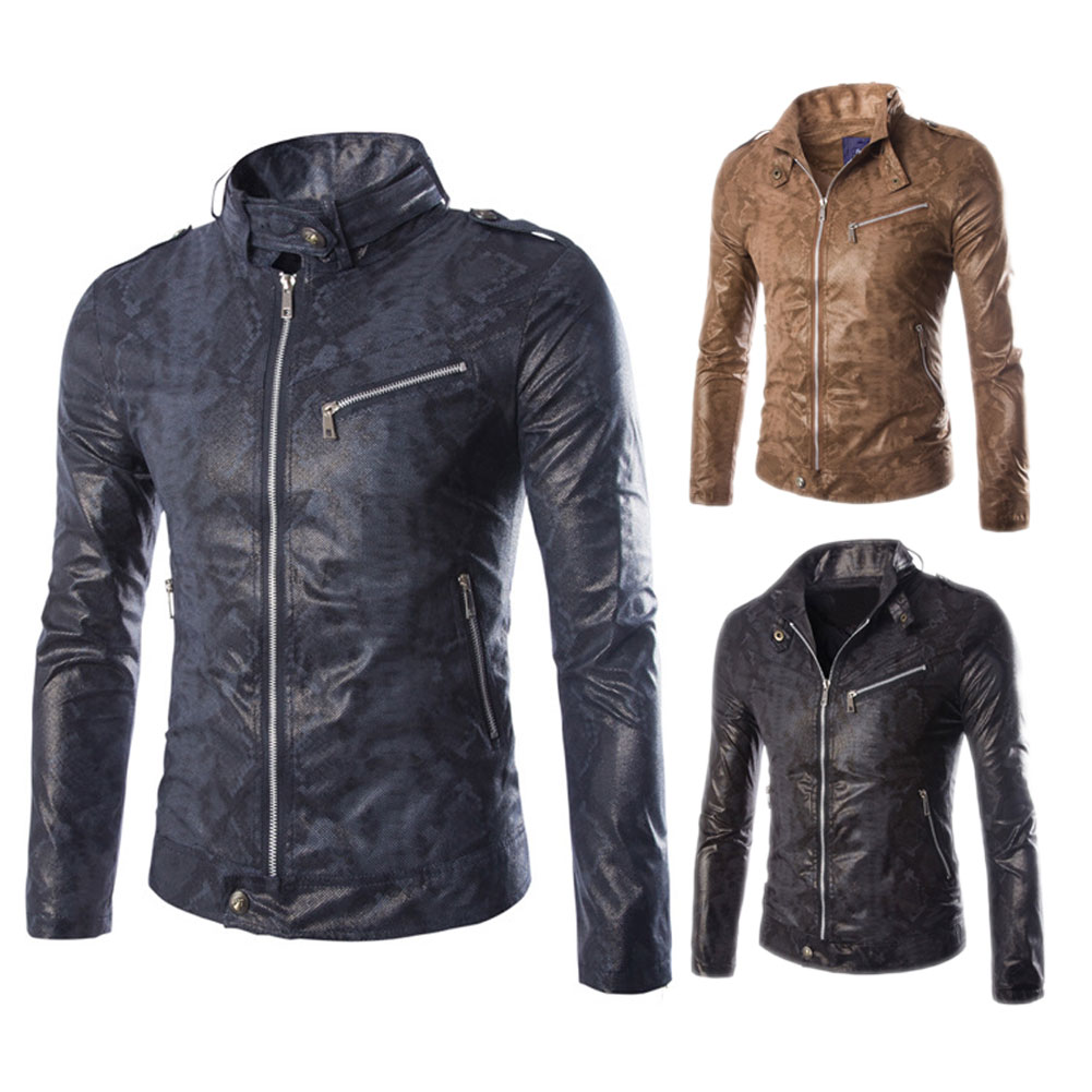 Brand New Autumn And Winter Mens Faux Leather Jacket Men Vintage Jackets Fashion Coat Style Coats HB88Одежда и ак�е��уары<br><br><br>Aliexpress