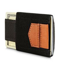 Slim Credit ID Holders Mens Card Holder Elastic Magic Minimalist Wallet Leather Mini Case Coins Purse For Male Women Porte Carte(China (Mainland))