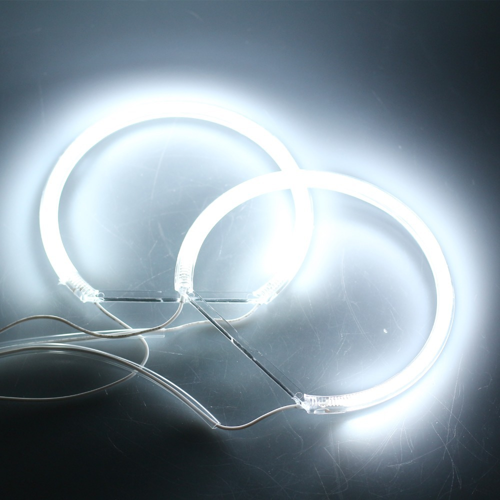 4Pcs 12V Car CCFL Halo Rings DRL CCFL LED Angel Eyes 2x131mm 2x146mm White Headlight For BMW E36 E38 E39 E46 3 5 7 Series 90-05(China (Mainland))