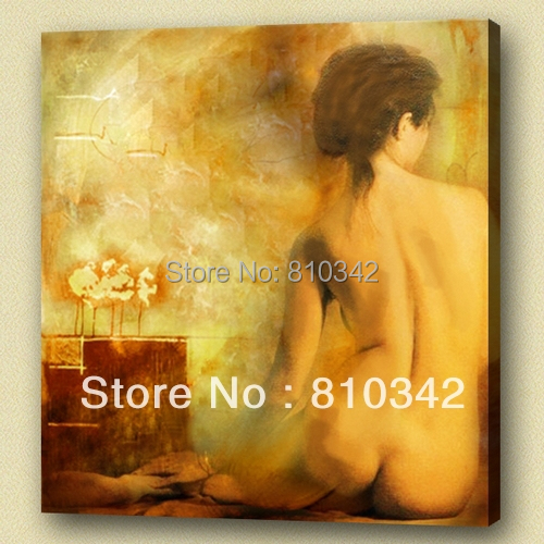 whloesale canvas art ornament handicraft good quality picture nude oil painting(China (Mainland))