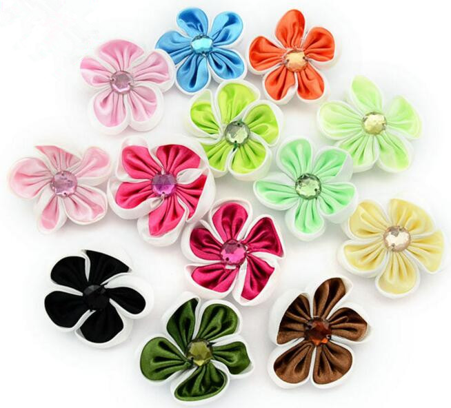 200pcs/lot DIY floral for clothing/hats/shoes/hairpins/headare accessories DIY ribbon flower china supplier wholesale free ship(China (Mainland))