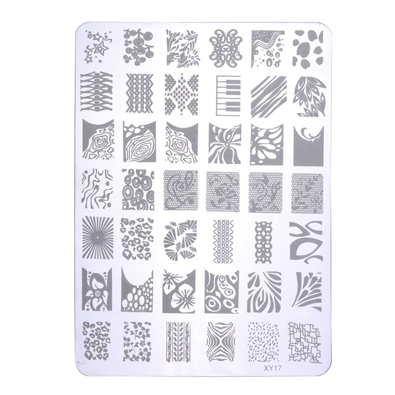 Fashion NEW Nail Art Tool Accessories Popular Nail Stamp Stainless Steel Square Shape Konad Nail Stamping Plates LS*HJ1118W#A3(China (Mainland))