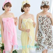 13 Colors Sexy Women Bathrobe Bath Towel Flannel Robe Night Gown nightdress + Headband + Shoes Female Leopard Bath Robe Lingerie(China (Mainland))