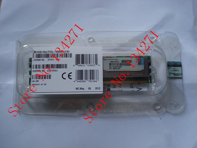 627812-b21 16GB (1x16GB) Dual Rank x4 PC3L-10600R-9 (DDR3-1333) Registered CAS-9 LP Memory Kit(China (Mainland))