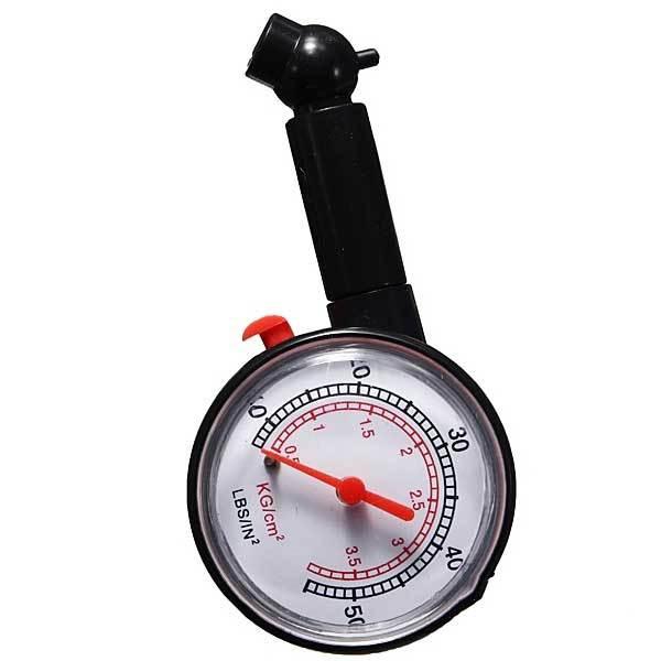 Allendaler Dial Tire Air Pressure Gauge Meter for Motorcycle Car Vehicle 0-50PSI(China (Mainland))
