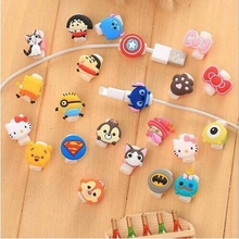 Buy 10pcs/lot Lovely Cute Cartoon Cord Saver Cover iPhone 6s 6 plus 5s 8 Pin Charging Cable Protector Saver cable winder for $1.36 in AliExpress store