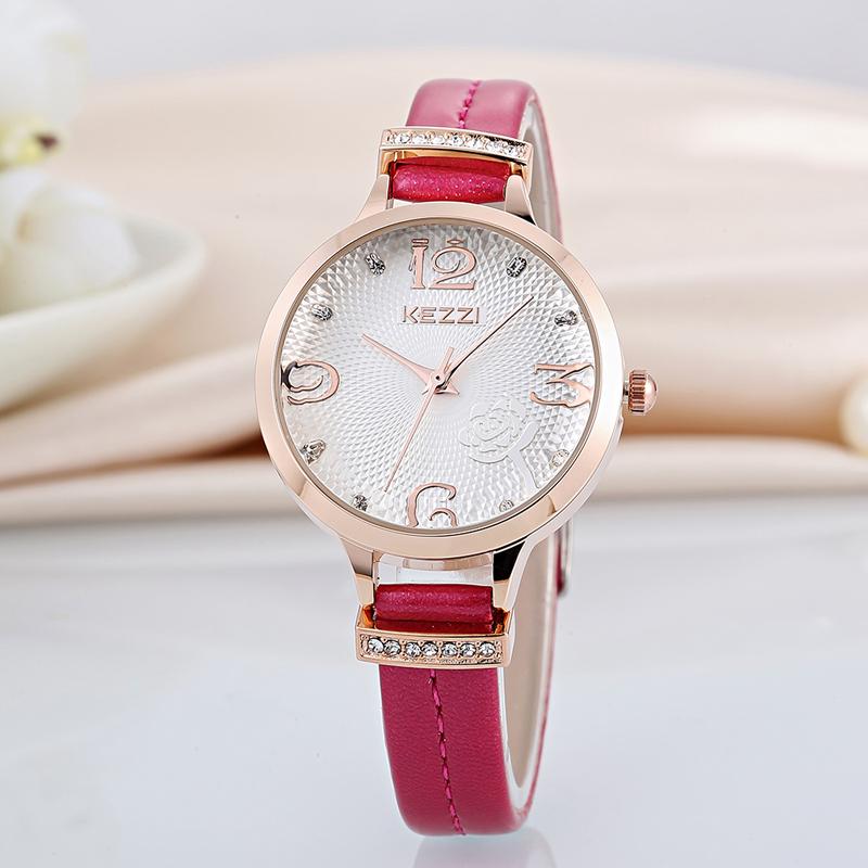 Brand Ladies Watch Rhinestone Flowers Dress Watches Waterproof Japanese Movement Leather Wrist Watch Quartz Clock Reloj Mujer(China (Mainland))