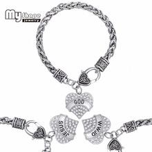 Religious GOD JESUS WWJD Bracelet Holy  Faith Belive in Heart Rhinestone Bracelet(China (Mainland))