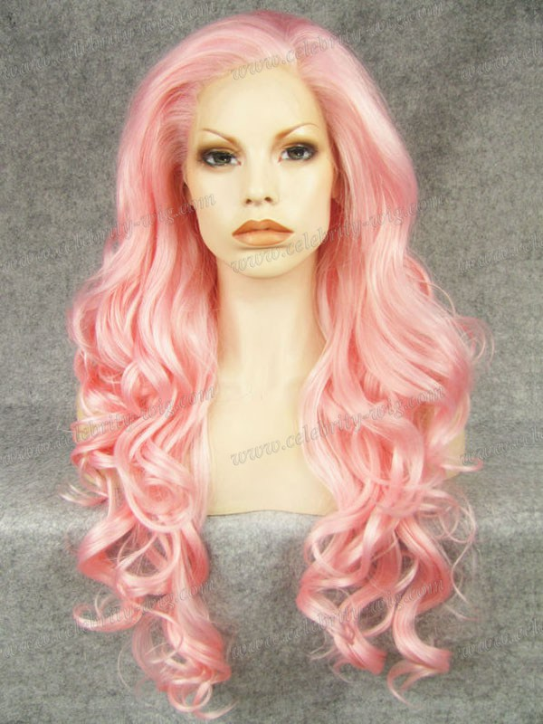 N5-3100B long wavy new style top quality synthetic lace front wigs<br><br>Aliexpress