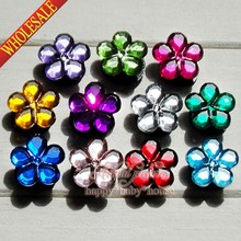 High Quality 55PCS Crystal Flowers PVC Shoe Charms Shoe Accessories Ornaments Fit For Croc Jibz Bracelets Bands Kids Party Gifts(China (Mainland))