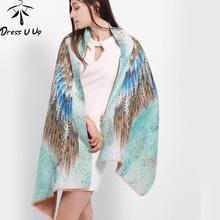 [DRESSUUP]Newest Design Bandana Printing Winter Scarf Women Shawls Thicken Wings Scarfs Warm Scarves Wool Brand Scarf Woman Wrap(China (Mainland))