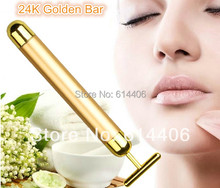 HOT Selling Energy T-shape 24K golden beauty bar face slimming massager great beauty care gift (not included the battery)