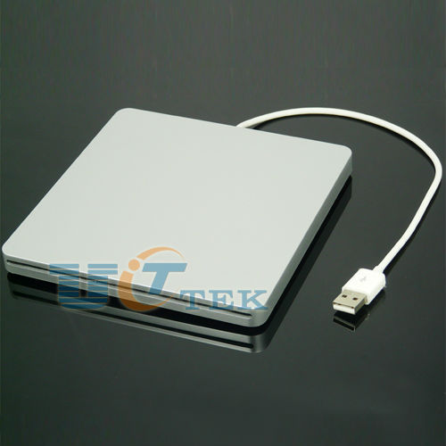 Super Slim USB 2.0 Slot-in Slot Load CD DVD RW External Caddy Case Enclosure SATA For Macbook Superdrive Singapore Post