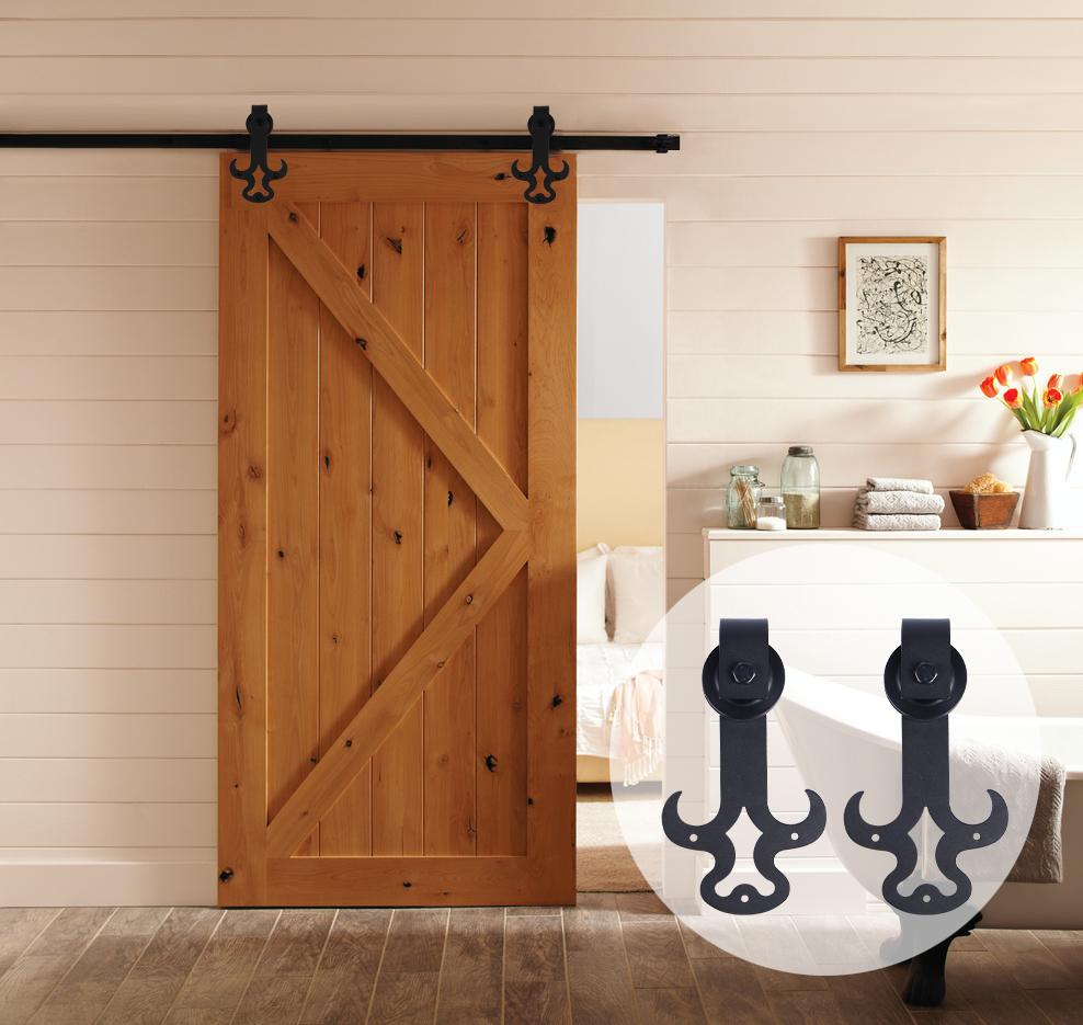 Sliding barn wood door hardware in doors from home improvement on