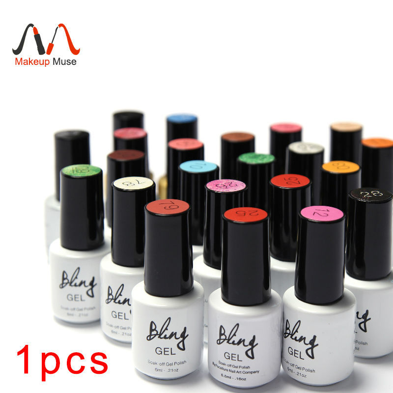 1Pcs Nail Gel Polish Gel Long-lasting Soak-off Gel Nail LED UV 6ml Hot Nail Gel 80 Colors #24007-1(China (Mainland))