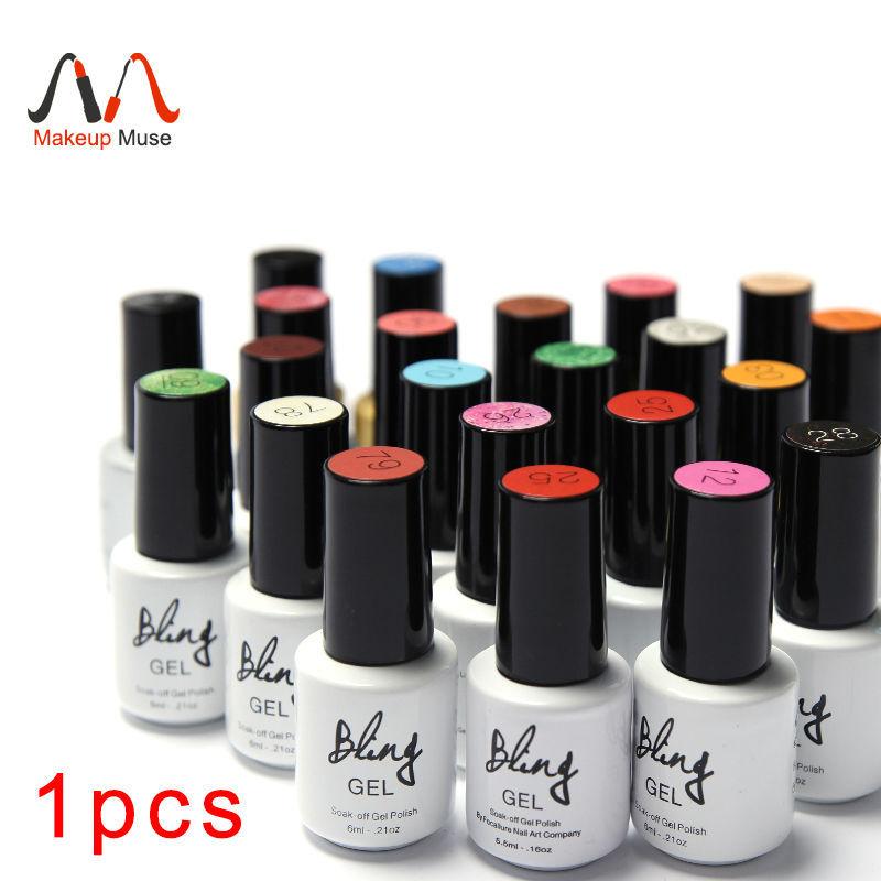 1Pcs Nail Gel Polish Gel Long-lasting Soak-off Gel Nail LED UV 6ml Hot Nail Gel 80 Colors #24007-1(China (Mainland))