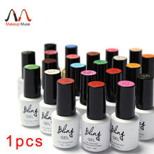 1 pz nail gel polish gel di lunga durata soak-off gel nail led uv 6 ml calda chiodo del gel 80 colori #24007-1(China (Mainland))