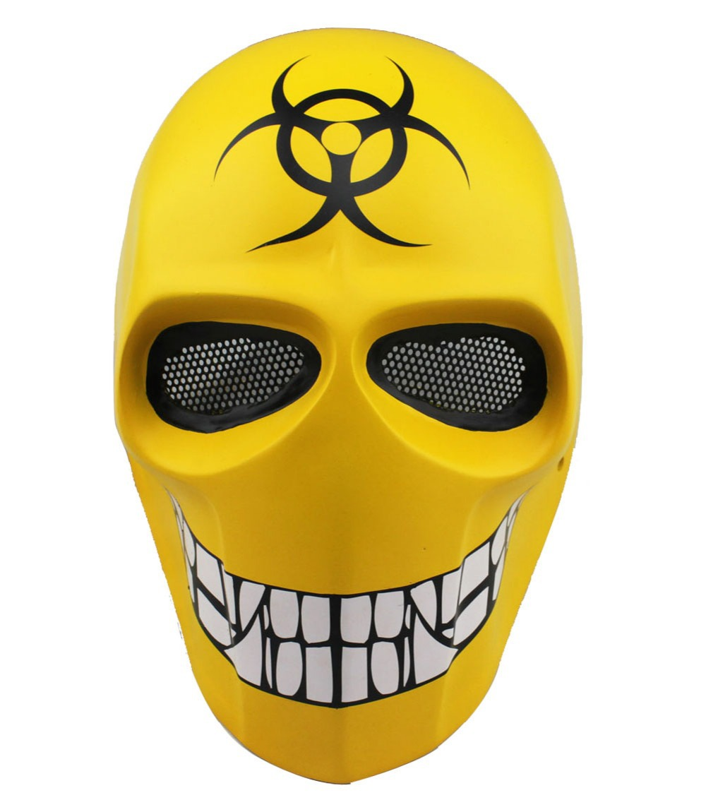 Smile Halloween Costume BB Gun Skull Masks Custom Army Two Cosplay Wire Mesh Airsoft Full Face Protection Paintball Mask - 008 Store store