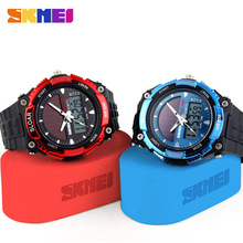 skmei men s outdoor recreational diving watches LED display multi purpose military observer solar watch relogio