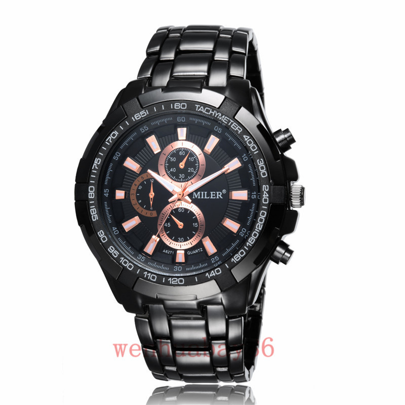 MILER Mens watch Business New Casual Sports Analog Stainless steel Band Quartz Wrist Watch Male relogio masculino Gifts Q5009-11<br><br>Aliexpress