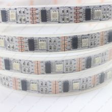 5M DC5V WS2801 IC Digital Addressable RGB Dream Color LED Strip, 160 LEDs 32Leds/M pixel White PCB IP67 Silicone Waterproof(China (Mainland))