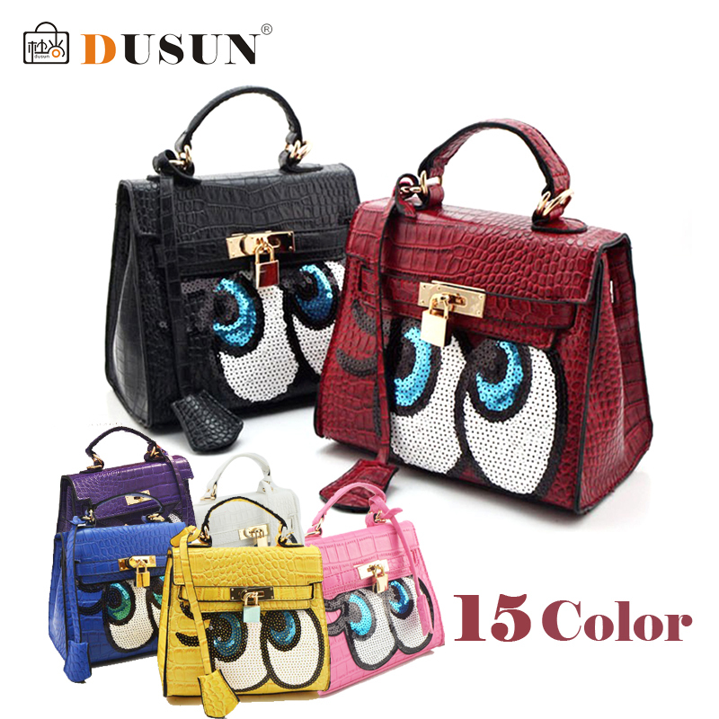 Crocodile women bag doctor small women leather handbags sweet women clutch lock women messenger bags sequins bolsa sac DUSUN(China (Mainland))