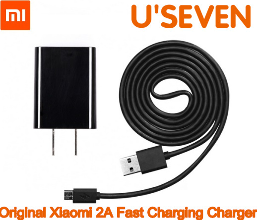 Free shipping! 100% original Xiaomi Fast charging Kit 5V 2A Wall Charger plug & 120cm Data Sync Micro USB cable US Standard(China (Mainland))