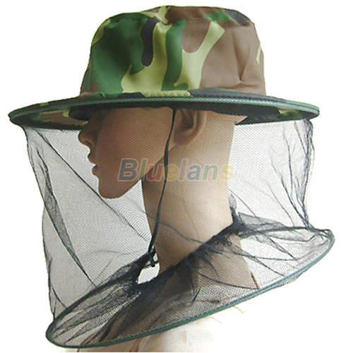 Fashion Mosquito Cap Women Men Midge Fly Insect Bucket Hat Fishing Camping Field Jungle Mask Face Protect Cap Mesh Cover 1J56(China (Mainland))