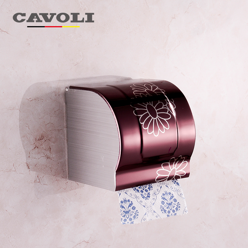 Cavoli Stainless Steel Electroplating Paper Holders Top quality toilet Tissue box Brand Brand Bathroom Accessories #P2064R(China (Mainland))